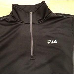 FILA Black & Gray Pullover. Size Medium.